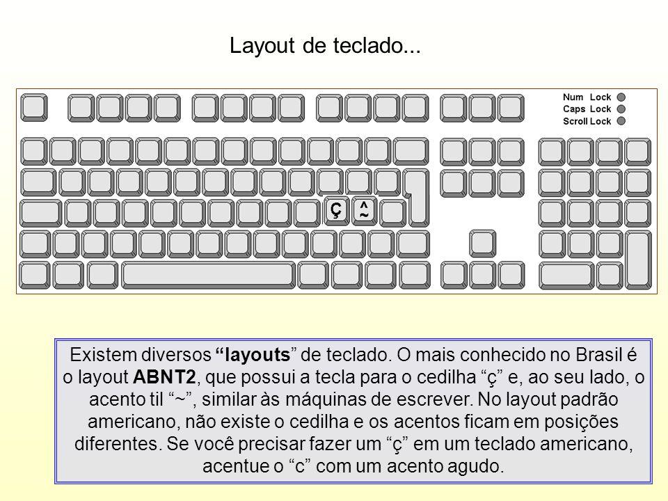 Layout de teclado...