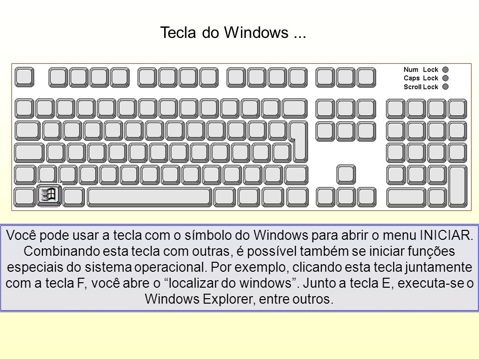 Tecla do Windows ...