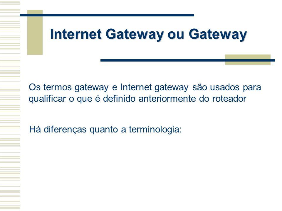 Internet Gateway ou Gateway