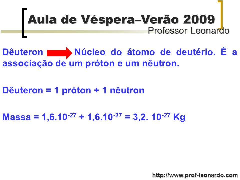 Dêuteron. Núcleo do átomo de deutério