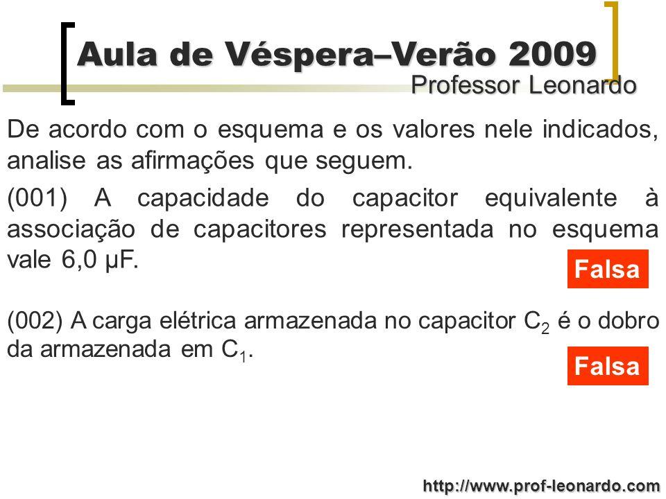 De acordo com o esquema e os valores nele indicados, analise as afirmações que seguem.