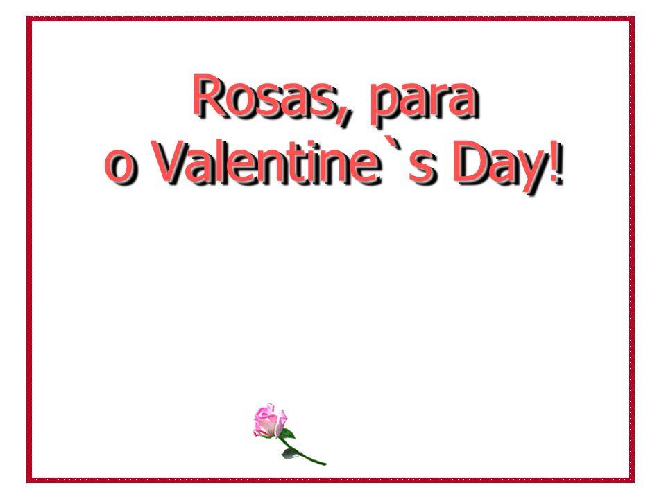 Rosas, para o Valentine`s Day!
