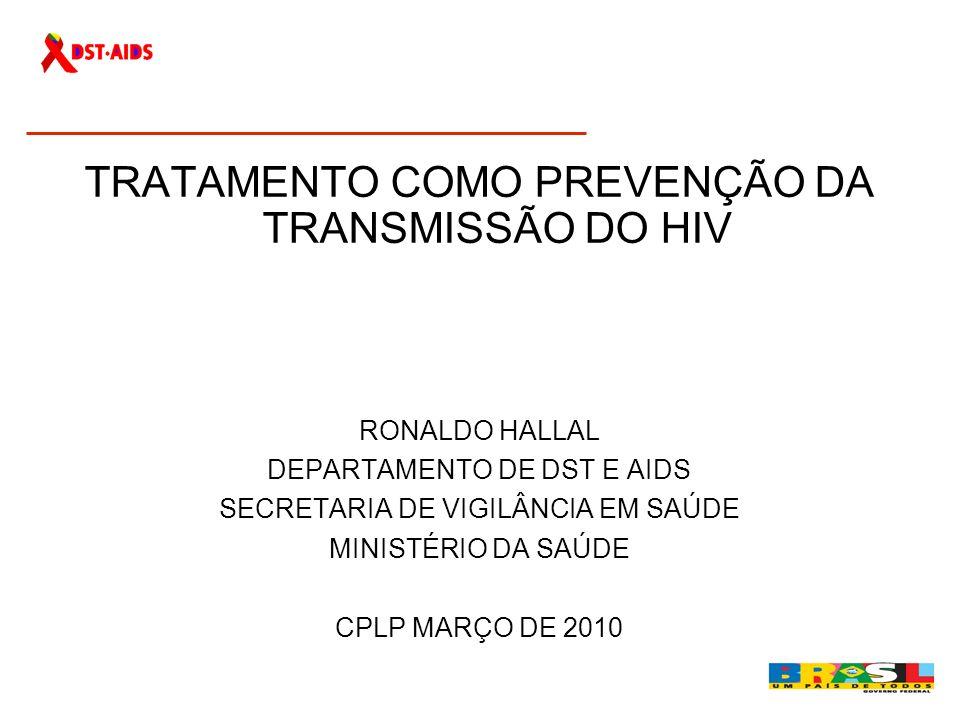 TRATAMENTO COMO PREVENÇÃO DA TRANSMISSÃO DO HIV