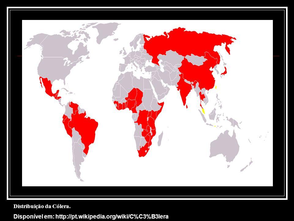 Distribuição da Cólera.