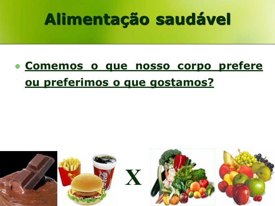 X Alimentação saudável