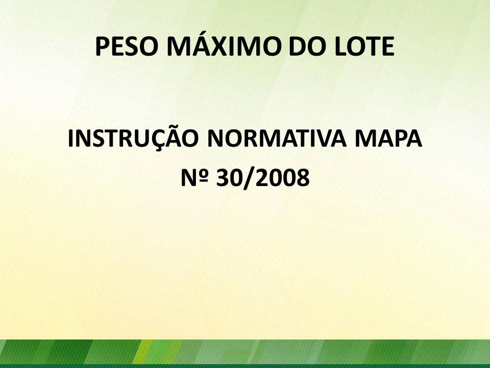 INSTRUÇÃO NORMATIVA MAPA