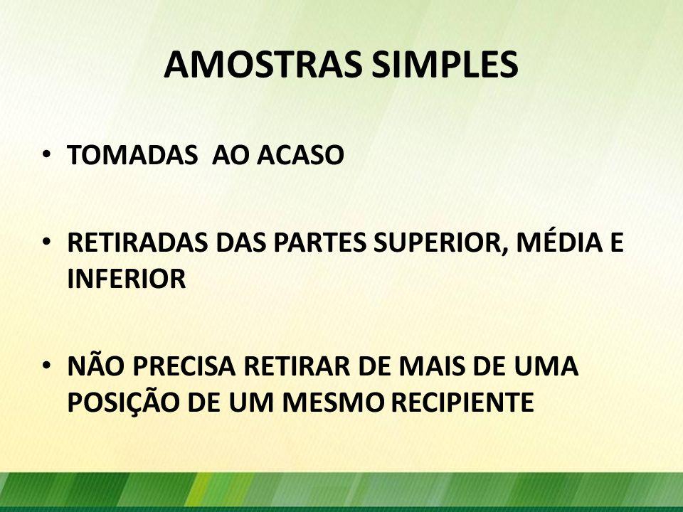 AMOSTRAS SIMPLES TOMADAS AO ACASO