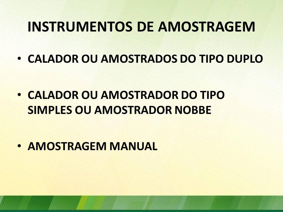 INSTRUMENTOS DE AMOSTRAGEM