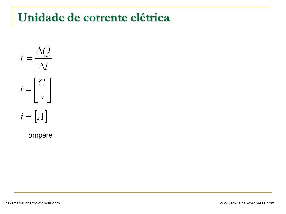 Unidade de corrente elétrica