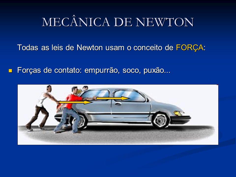 MECÂNICA DE NEWTON Todas as leis de Newton usam o conceito de FORÇA: