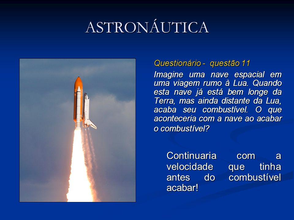 ASTRONÁUTICA Questionário - questão 11.