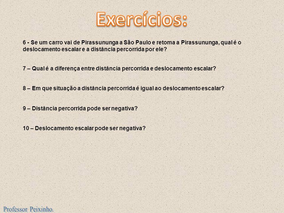 Exercícios: Professor Peixinho.