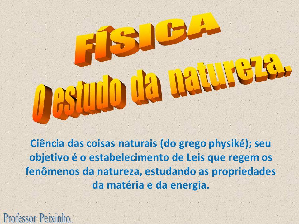FÍSICA O estudo da natureza.