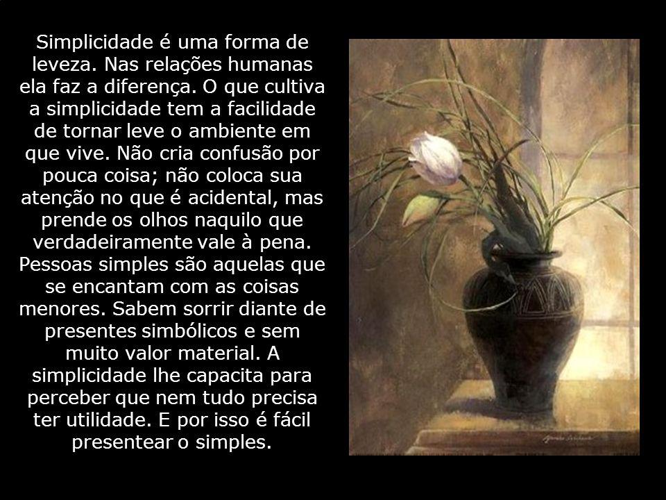 Simplicidade é uma forma de leveza