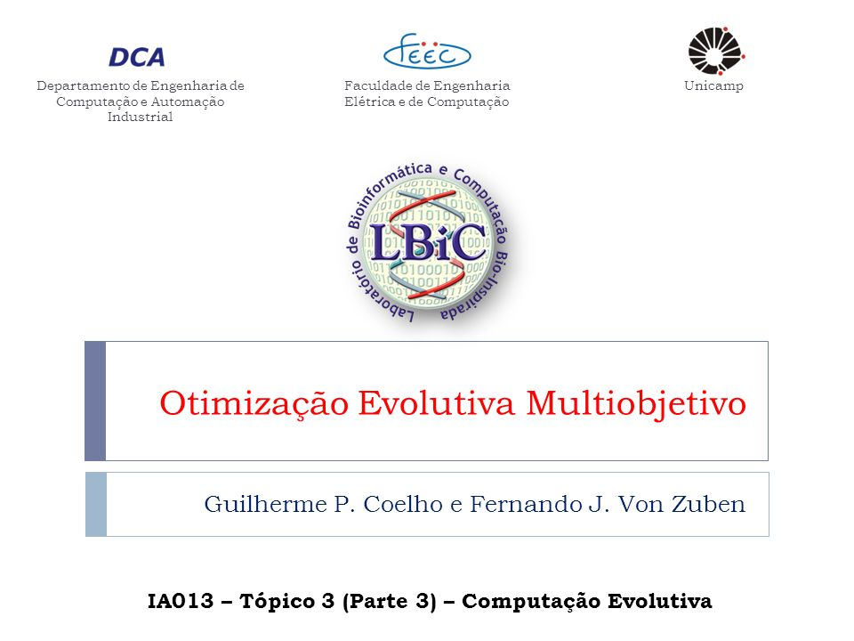 Otimização Evolutiva Multiobjetivo