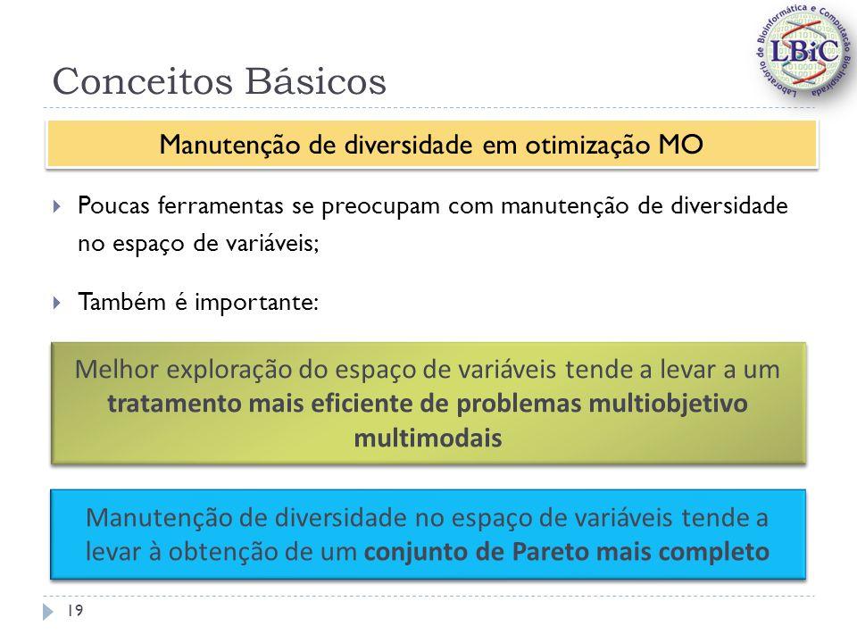 Manutenção de diversidade em otimização MO