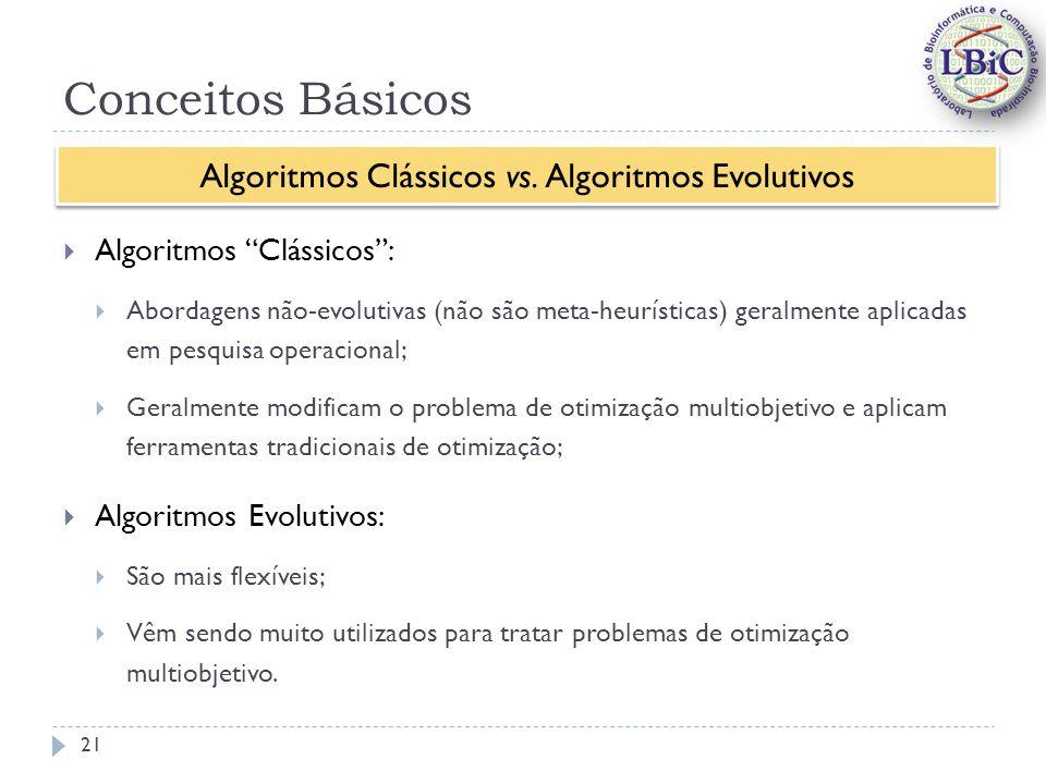 Algoritmos Clássicos vs. Algoritmos Evolutivos