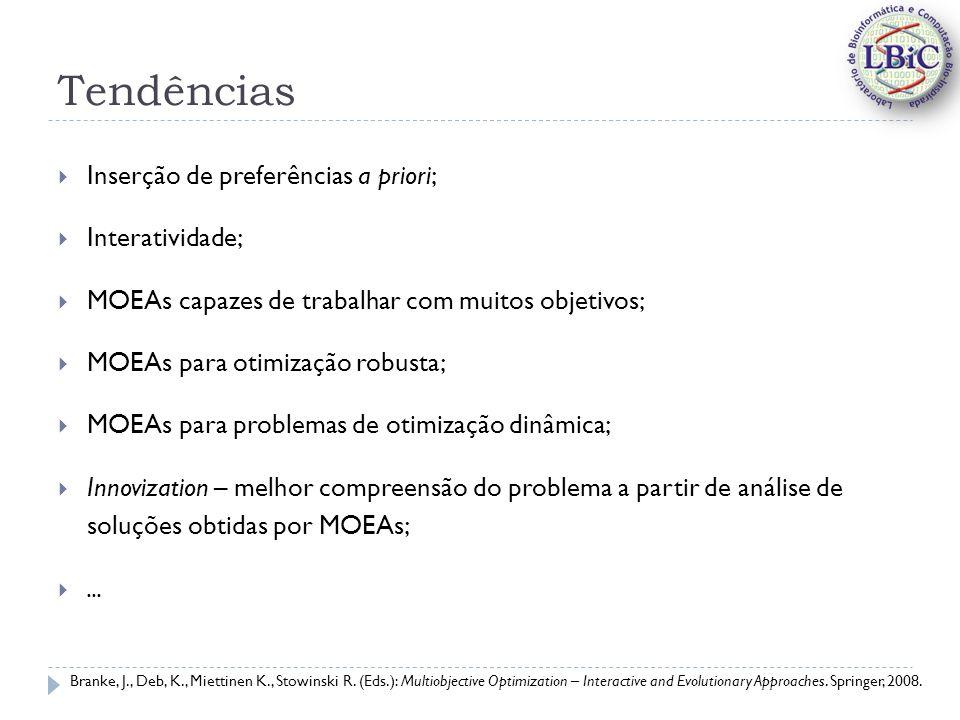 Tendências Inserção de preferências a priori; Interatividade;