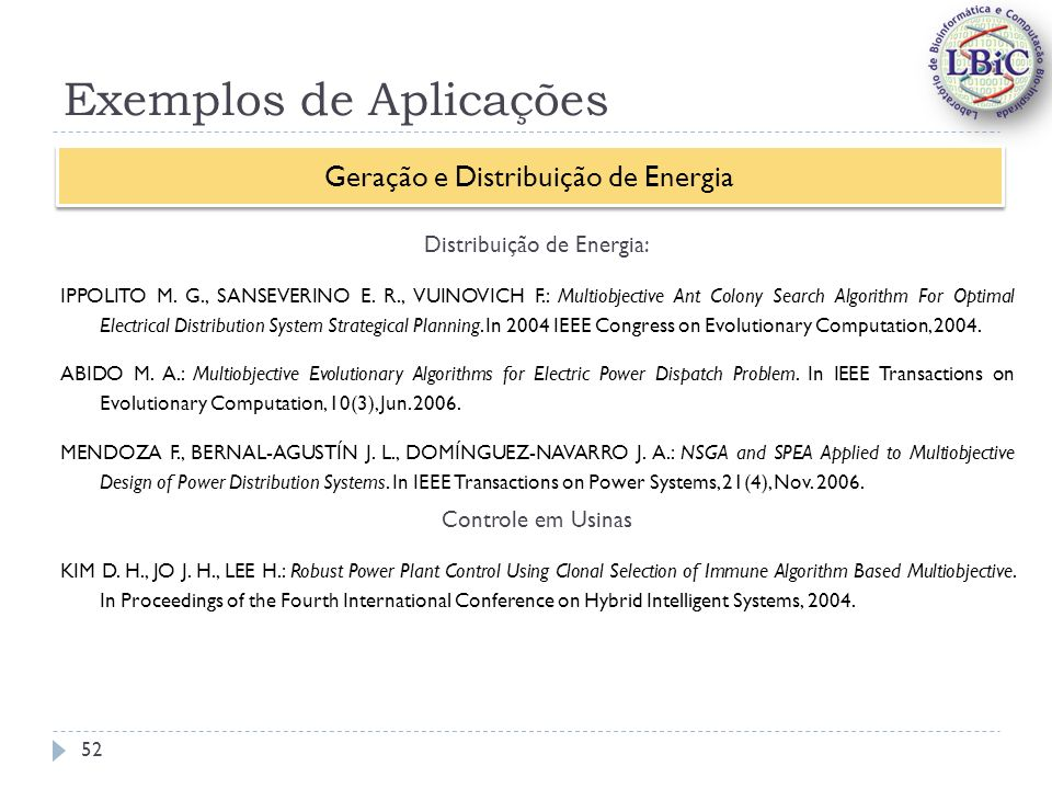 Exemplos de Aplicações