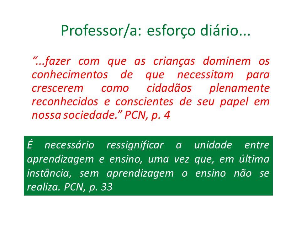 Professor/a: esforço diário...
