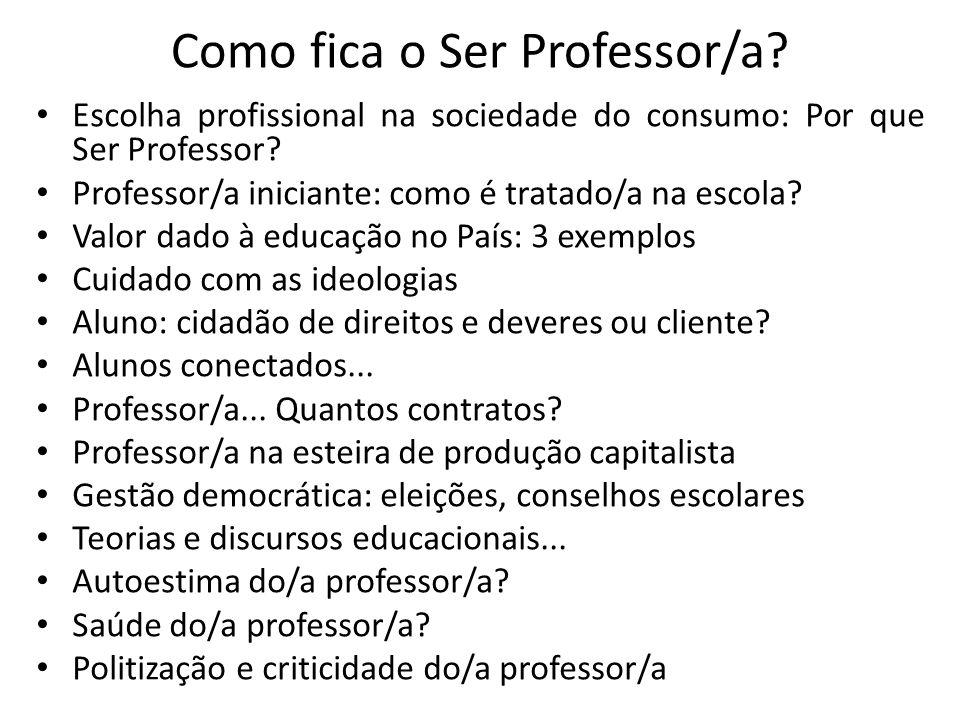 Como fica o Ser Professor/a