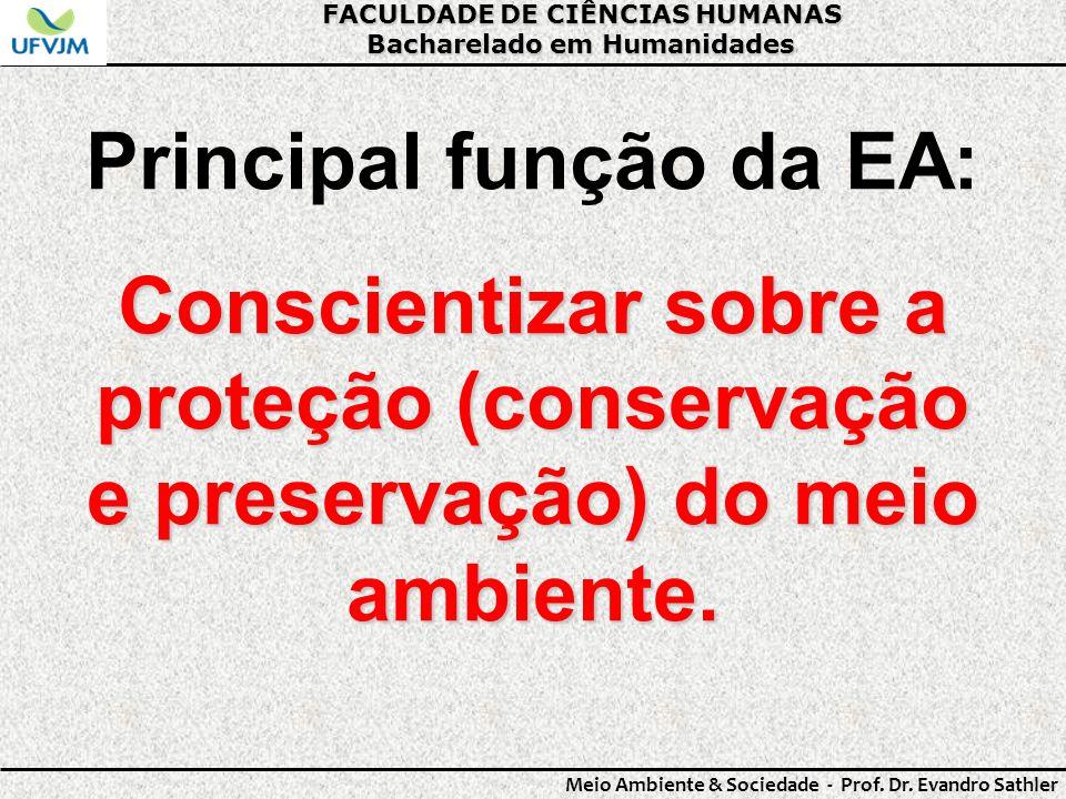 Principal função da EA: