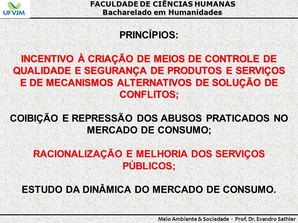 COIBIÇÃO E REPRESSÃO DOS ABUSOS PRATICADOS NO MERCADO DE CONSUMO;