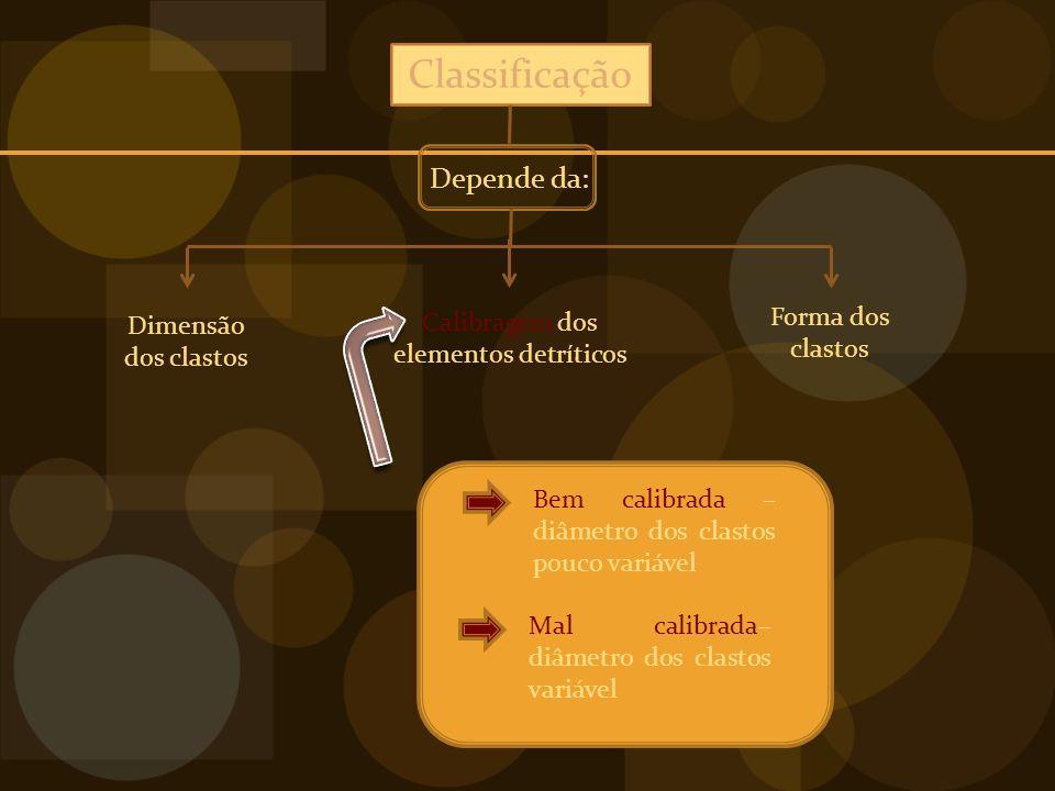 Calibragem dos elementos detríticos