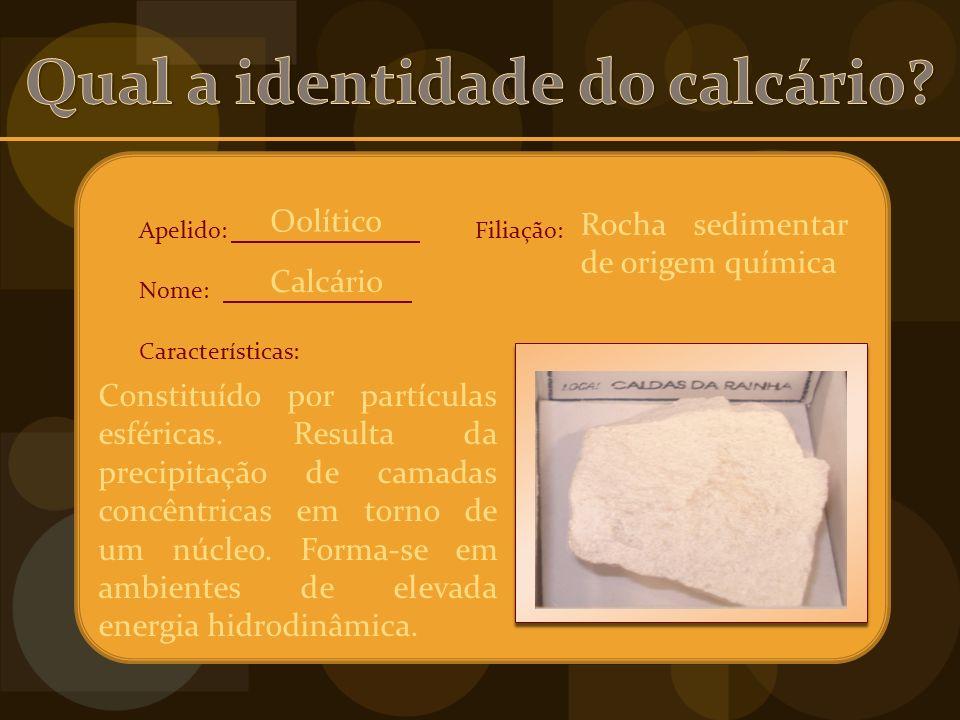 Qual a identidade do calcário