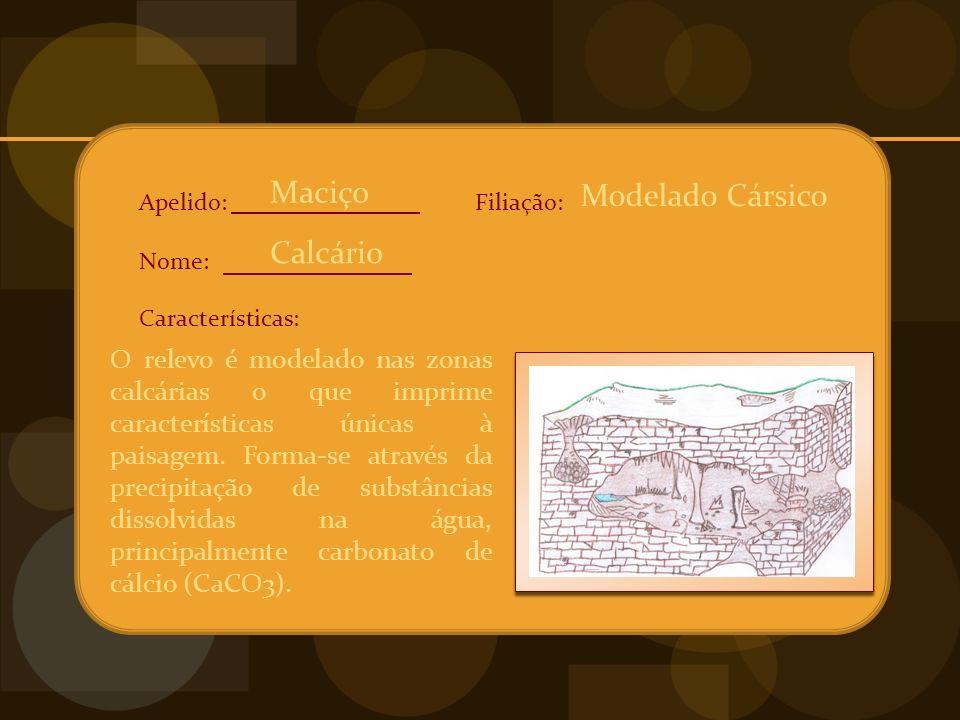 Maciço Modelado Cársico Calcário