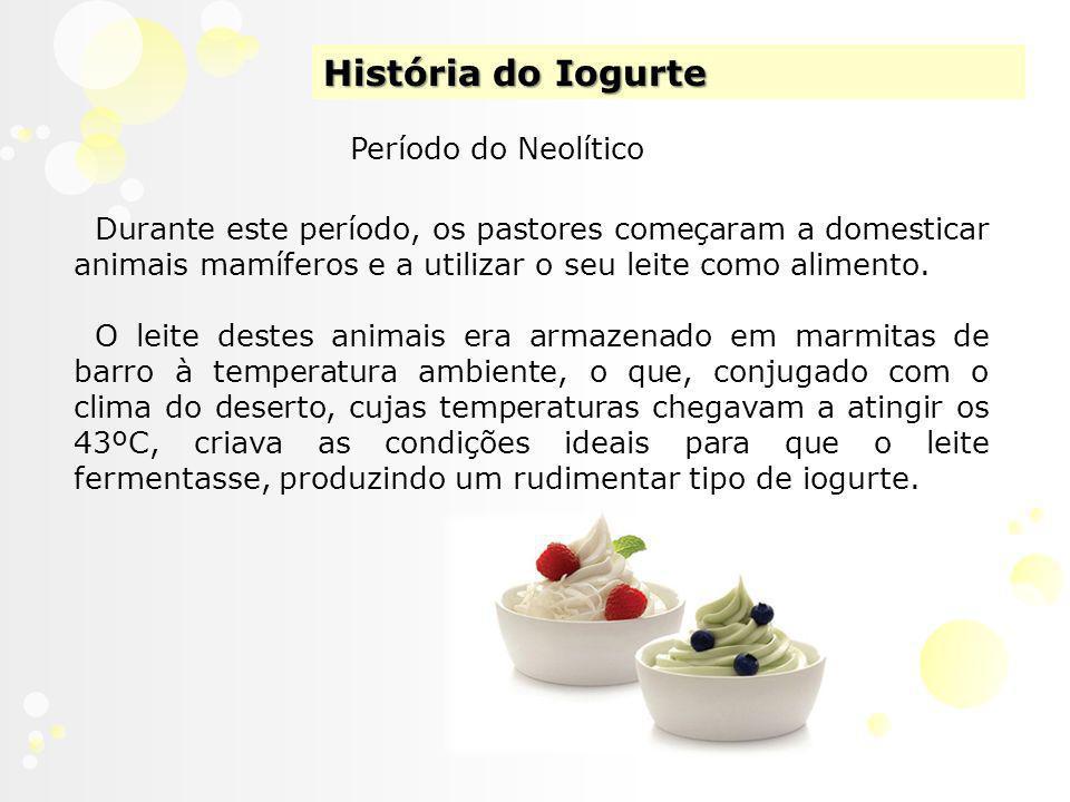 História do Iogurte Período do Neolítico