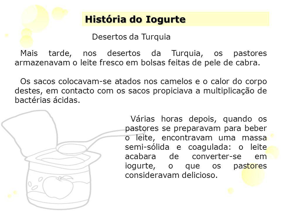 História do Iogurte Desertos da Turquia