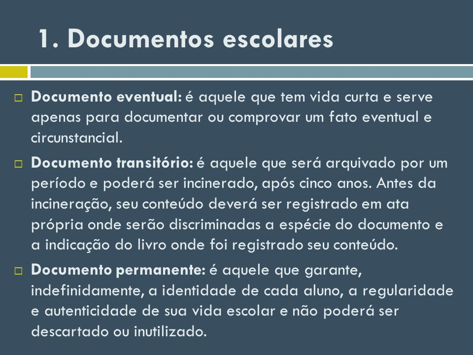 1. Documentos escolares
