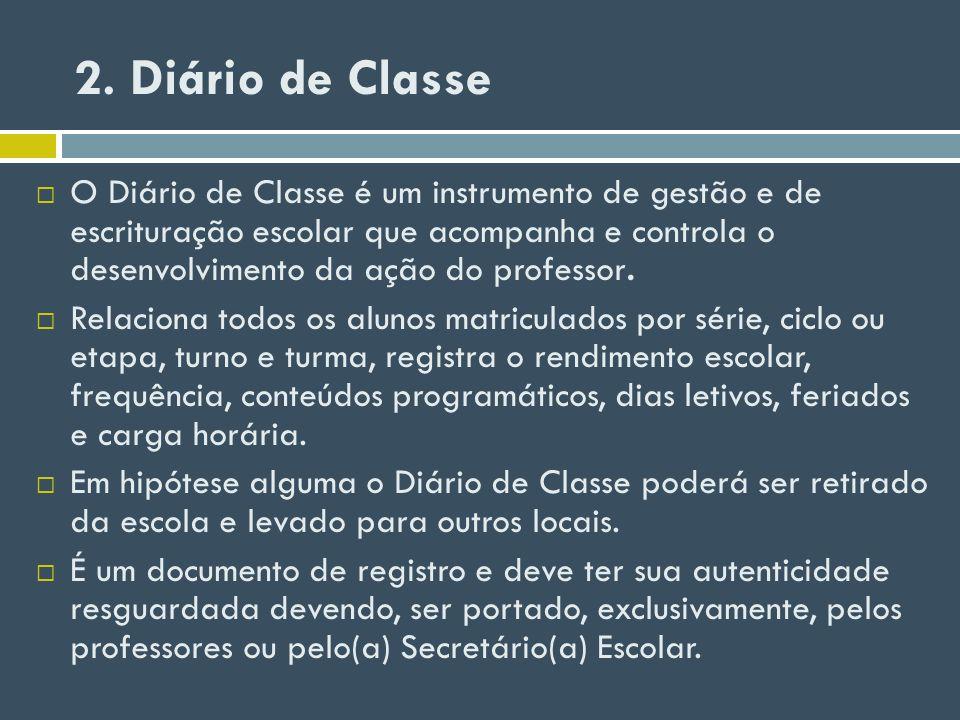2. Diário de Classe
