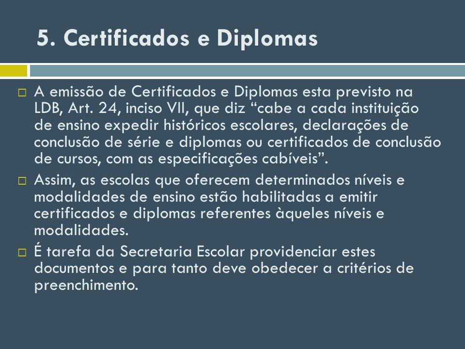 5. Certificados e Diplomas
