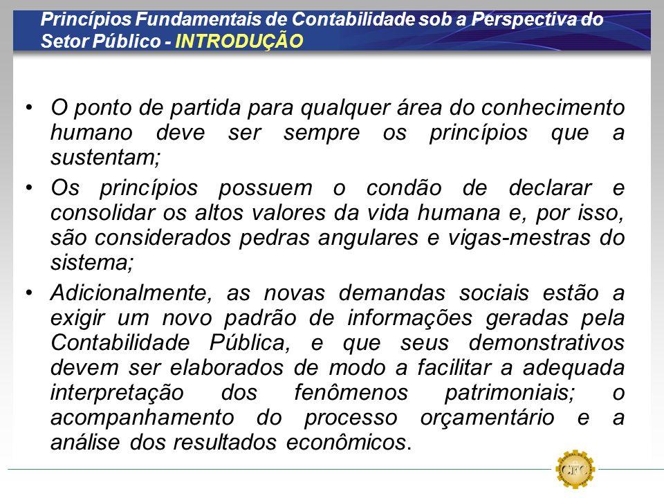Princípios Fundamentais de Contabilidade sob a Perspectiva do Setor Público - INTRODUÇÃO