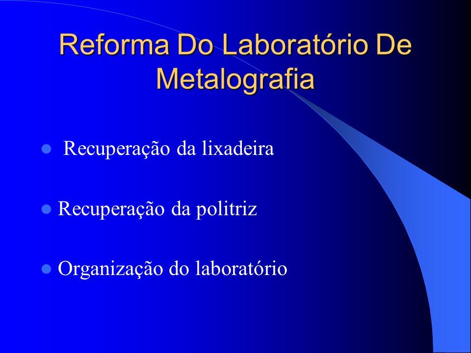 Reforma Do Laboratório De Metalografia