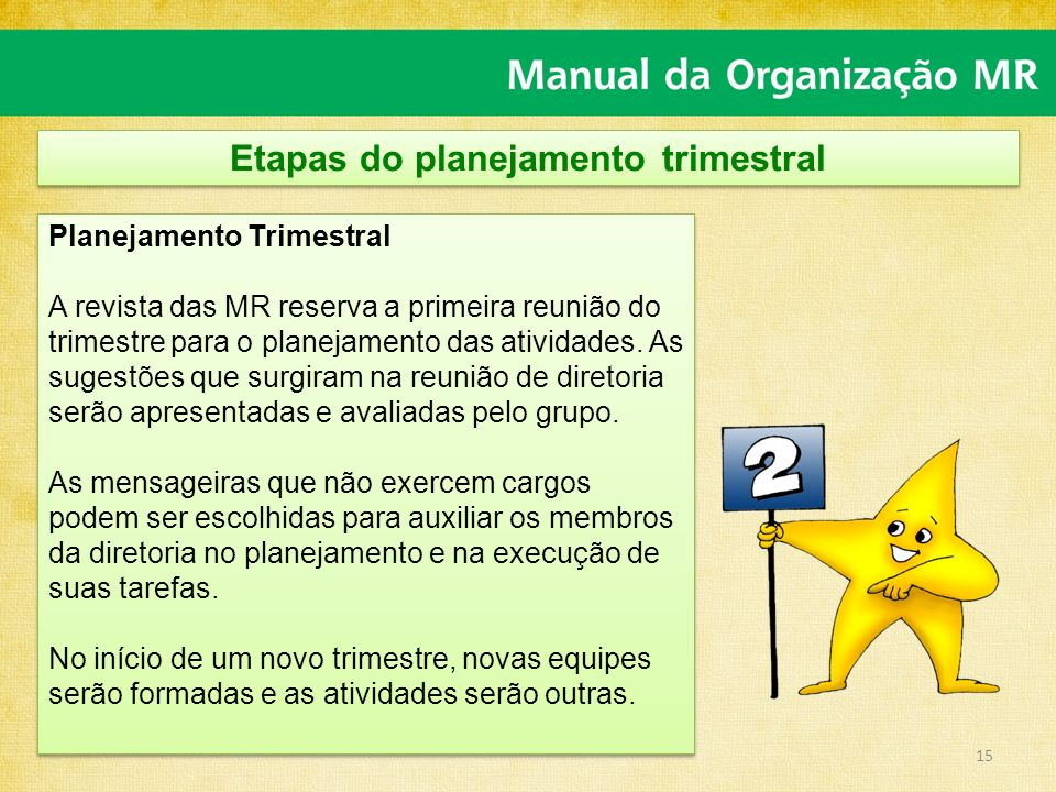 Etapas do planejamento trimestral