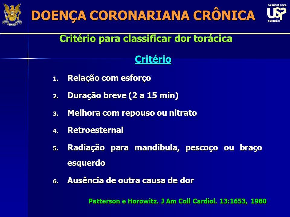 DOENÇA CORONARIANA CRÔNICA