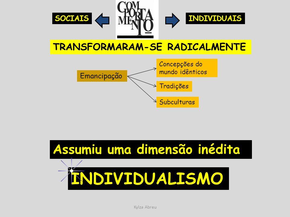 INDIVIDUALISMO Assumiu uma dimensão inédita