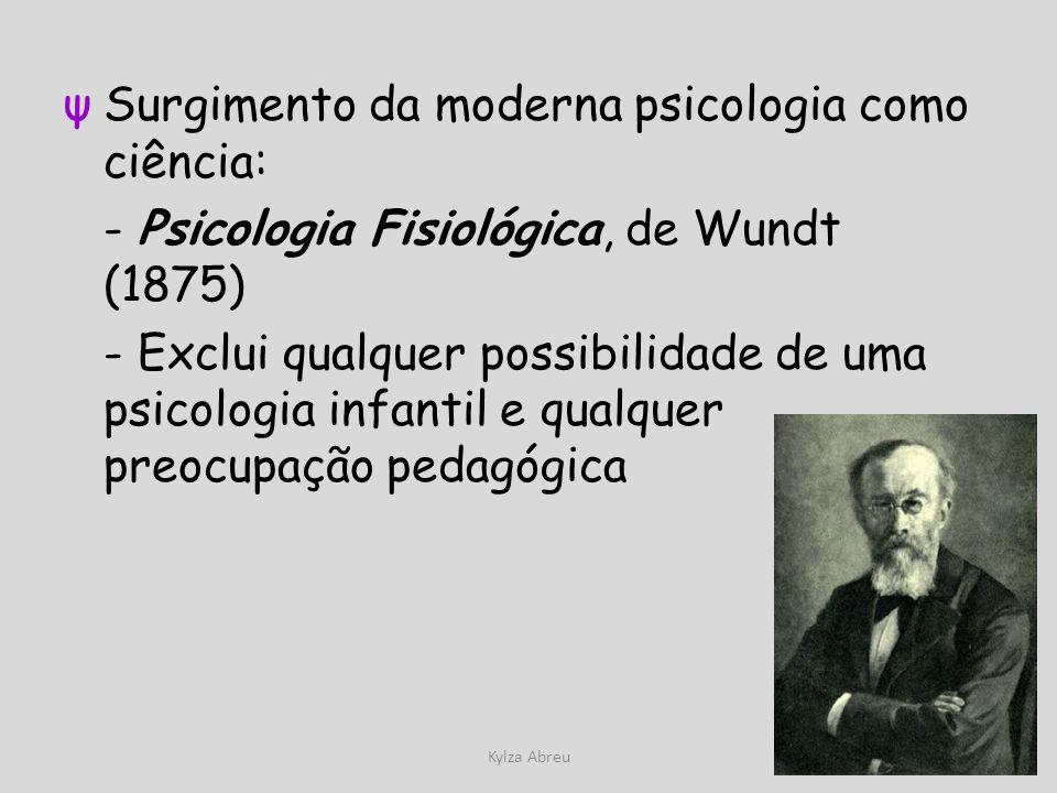 Surgimento da moderna psicologia como ciência: