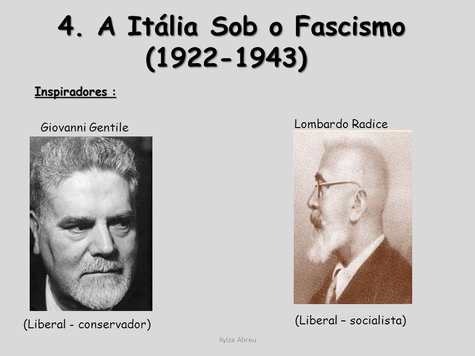 4. A Itália Sob o Fascismo (1922-1943)