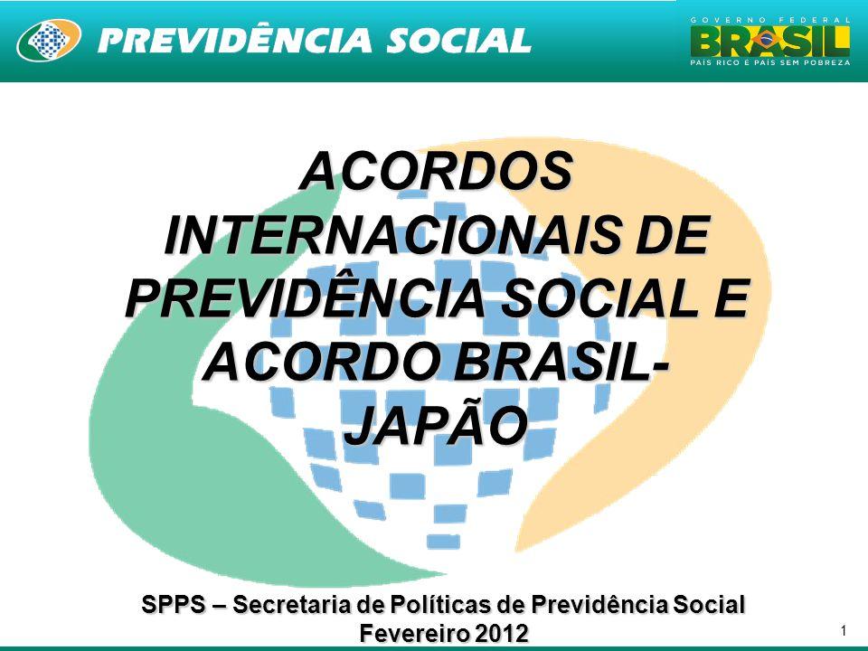 ACORDOS INTERNACIONAIS DE PREVIDÊNCIA SOCIAL E ACORDO BRASIL-JAPÃO