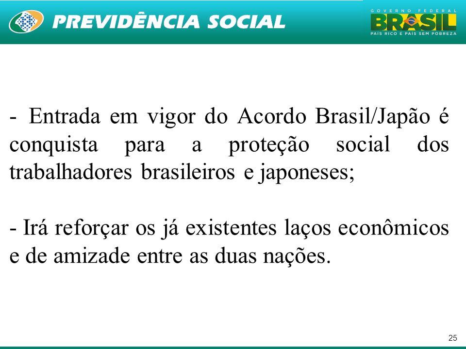 Entrada em vigor do Acordo Brasil/Japão é conquista para a proteção social dos trabalhadores brasileiros e japoneses;