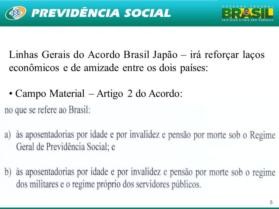 Linhas Gerais do Acordo Brasil Japão – irá reforçar laços econômicos e de amizade entre os dois países: