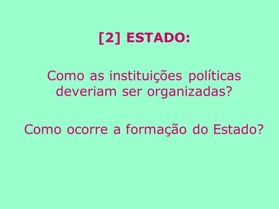 Como as instituições políticas deveriam ser organizadas