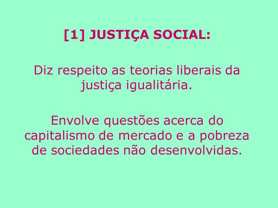 Diz respeito as teorias liberais da justiça igualitária.