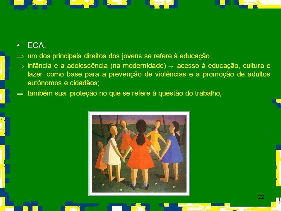ECA: um dos principais direitos dos jovens se refere à educação.