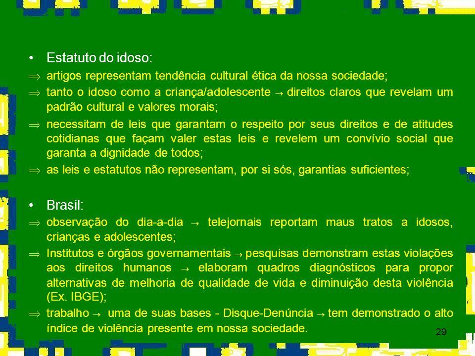 Estatuto do idoso: Brasil: