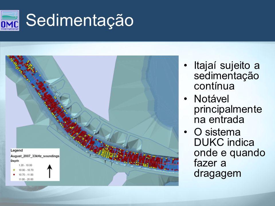 Sedimentação Itajaí sujeito a sedimentação contínua